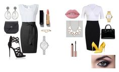"""""""Brother Challenge / pencil dress"""" by sacha15 on Polyvore featuring Giuseppe Zanotti, Dolce&Gabbana, Kate Spade, Movado, Full Tilt, Accessorize, Lime Crime and Chanel"""