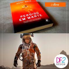 """[DICA] Nossa dica de hoje é em DOSE DUPLA: livro e filme """"Perdido em Marte"""". O livro muito bem escrito e envolvente conta a história de um astronauta, Mark Watney (no filme interpretado por Matt Damon) que é enviado para uma missão em Marte. Após uma severa tempestade ele é dado como morto, abandonado pelos colegas e acorda sozinho no misterioso planeta com escassos suprimentos, sem saber como reencontrar os companheiros ou retornar à Terra. Vale muito a pena!"""
