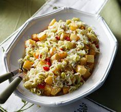 Ένα συνοδευτικό που θα ταιριάξει τέλεια με τα ψητά κρεατικά του κυριακάτικου ή του γιορτινού σας τραπεζιού. The Kitchen Food Network, Weight Watchers Meals, Greek Recipes, Food Network Recipes, Pasta Salad, Risotto, Macaroni And Cheese, Side Dishes, Yummy Food