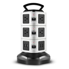 Power Strip With Usb Surge Protector 10 Outlet 4 Usb Port Charger Charging Tower 815656026829 Ebay In 2020 Power Strip Surge Protector Charging Station