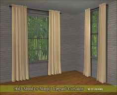 These are pretty much the only curtains I ever use in my game, and even though Holy Simoly's colours are very pretty and there's a sufficient amount of them too, I was getting tired of always using the same ones. So I made moar. Some of my colours are quite similar to Holy Simoly's, though, and…