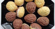 Ořechy plněné krémem jsou oblíbeným drobným cukrovím nejen na Vánoce a svatby. Spojení ořechového těsta a máslového krému je Christmas Candy, Christmas Treats, Christmas Baking, Xmas, Arabic Food, Top Recipes, Holiday Cookies, Desert Recipes, International Recipes