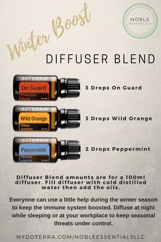 Winter Boost Diffuser Blend from Noble Essentials LLC