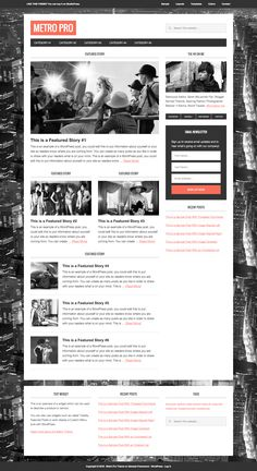 Metro is a magazine styled WordPress theme that works with Genesis theme framework. It has a mobile responsive layout with spacious 1152 pixel-wide frame that highlights your online publishing Web Design, Pixel Design, Mobile Responsive, Responsive Layout, Thing 1, Cool Magazine, Blog Layout, Cool Themes, Premium Wordpress Themes