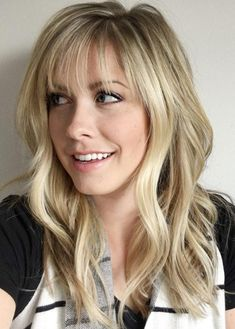 Top 36 Hairstyles With Light Wispy Bangs 2018 We all had had those times in our lives when we thought,' Hey! I need to change my look a little bit.' Answers to these problems are wispy bangs. Wispy Hair, Long Hair With Bangs, Thin Bangs, Wispy Bangs Round Face, Wispy Side Bangs, Long Layers With Bangs, Layered Hair With Bangs, Long Layered Haircuts, Haircuts With Bangs