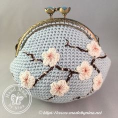 """New Cheap Bags. The location where building and construction meets style, beaded crochet is the act of using beads to decorate crocheted products. """"Crochet"""" is derived fro Crochet Wallet, Crochet Coin Purse, Crochet Purse Patterns, Crochet Purses, Crochet Bags, Love Crochet, Bead Crochet, Crochet Flowers, Crochet Shell Stitch"""