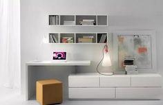 mueble modular lcd living escritorio biblioteca progetto