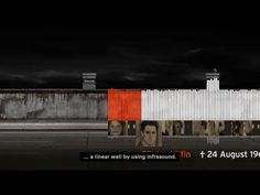 BERLIN WALL OF SOUND SoundCloud graphic in shape of the wall. Uses sounds of the time including gun shot. Comments = victims' circumstances