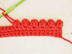 Een bobbelrandje haken - crochet bobble edge tutorial