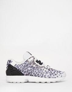 adidas Originals ZX Decon Flux Black & White Spot Sneakers