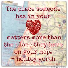 So true, Holley! But still wish our dear Heather Steck was closer to our place on the map.