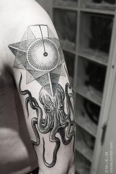 Octopus+Head+Arm+Tattoo