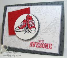 LeAnne Pugliese WeeInklings Red Sneakers
