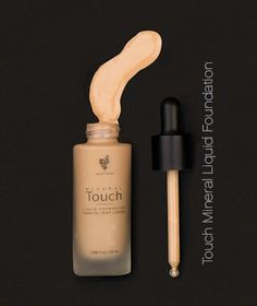 Younique Touch Liquid foundation. Comes in ten shades and dries to a powder finish. Use a powder brush to apply.