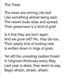 Philip Larkin, 'The Trees'