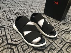 45169a0a2 Adidas 2017 new Yamamoto Y3 sandals black and white men and women couple  models