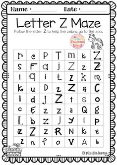 This set contains pages of variety activities, games and worksheets. This product will help to teach your students to recognize, read, write, solve, and listen for the beginning sound of that letter. Preschool   Preschool Worksheets   Kindergarten   Kindergarten Worksheets   First Grade   First Grade Worksheets   Alphabet   Alphabet Letter of the Week   Phonics   Reading   Writing   Alphabet Letter Z  Word Literacy Centers   Printables  Phonics