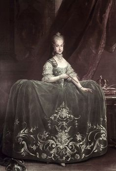 Reinette: Marie Antoinette's SiblingsMaria Carolina,c 1760s by Martin van Meytens  (TAG: FOLLOW IMAGE LINK FOR ARTICLE & MORE; PUBLIC DOMAIN)