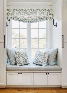 Portfolio by Project — Evars + Anderson Interior Design Bay Window Decor, Window Seats, Large Windows, Master Bedroom, Master Bath, Design Firms, Future House, Valance Curtains, Sweet Home