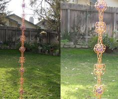 8 Ft Solid Copper Rain Chain Sun Catcher - Kusari Doi