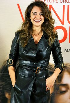 Penelope Cruz (in Versace) was all smiles at the Twice Born photo call in Rome, Italy, Nov. 5.