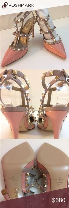 Valentino Garavani Rockstud Patent Leather Pumps Valentino Garavani Rockstud Patent Leather Pumps, Color Dusty Pink, Brand New Never Worn, Comes With Box, Dust Bag And Receipt. Valentino Garavani Shoes Heels