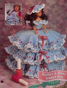 Ruffles-Bows-Trinket-Box-Barbie-Crochet-Pattern-Leaflet-30-Days-To-Shop-Pay