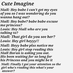 Discovered by astrid. Find images and videos about one direction, niall horan and imagine on We Heart It - the app to get lost in what you love. Cute Imagines, Niall Horan Imagines, One Direction Imagines, One Direction Humor, I Love One Direction, Harry Imagines, Naill Horan, James Horan, 1d And 5sos