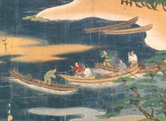 Treasures collection: J is for Japan  Part of a Japanese picture scroll from the Keicho Period (1596-1615), narrating the fairy tale of the fisherman Urashima.