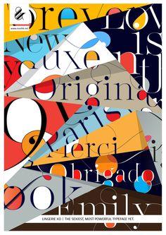 Lingerie XO poster - Designed by Moshik Nadav Typography. www.moshik.net