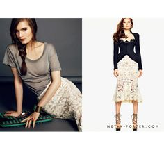 The skirt and heels are fabulous, Net-A-Porter