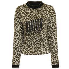 Vintage Junior Gaultier Leopard Print Sweater