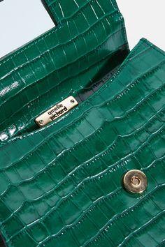 Flat Bag Croco Vert - Amélie Pichard