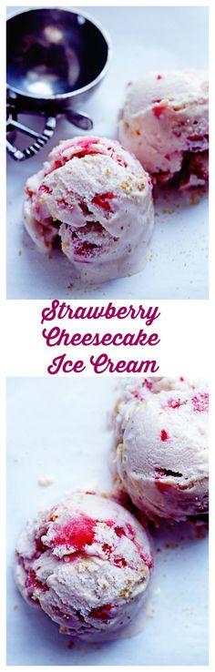 Strawberry Cheesecake Ice Cream | Grandbaby Cakes