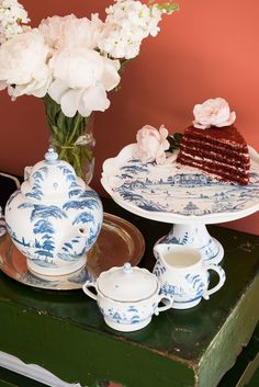 Tea parties are modern elixirs of conversation and friendship. Shop our new collection of Country Estate tea party extension and host one of your own this spring. Blue Plates, Blue China, Spring Has Sprung, Country Estate, Tablescapes, Dinnerware, Tea Party, Blue And White, Conversation
