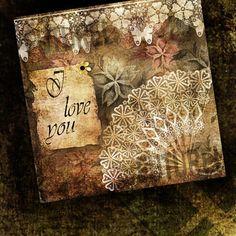 Grunge illustration of a fan.Romance. Wedding Card Templates