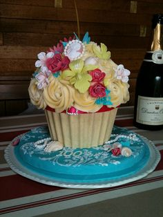100th birthday giant cupcake by The West Sussex Cupcake Company, via Flickr