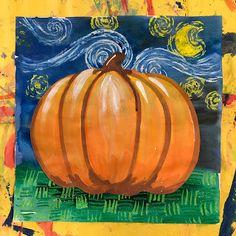 Elements of the Art Room: 2nd Grade Starry Night Pumpkins