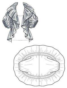Lagenlook, Hebbeding inspired Ruched Jacket pattern.  #hebedding #lagenlook #dresspattern