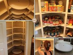The Great Pantry Makeover - DIY Lazy Susan Style Pantry tutorial Pantry Storage, Kitchen Storage, Pantry Diy, Pantry Ideas, Kitchen Pantry, Food Storage, Storage Ideas, Pantry Shelving, Organized Pantry