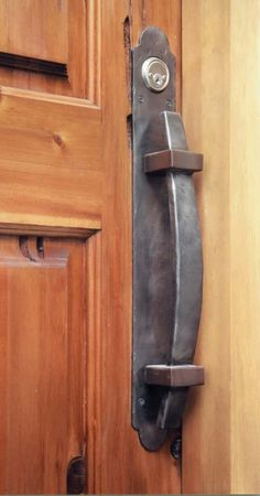 Door Pull - Custom Wrought Iron Door Handles - English Hunting Lodge Style