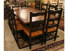 Dining Table with 2 Leaves
