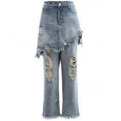 SHARE & Get it FREE | Frayed Ripped Skirted JeansFor Fashion Lovers only:80,000+ Items·FREE SHIPPING Join Dresslily: Get YOUR $50 NOW!