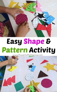 easy shapes and fine motor skills busy bag for toddlers!