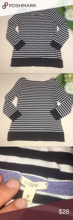 J. CREW | striped boatneck quarter sleeve top Length: 23"