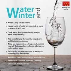 #Water isn't just important in the #summer - #wintertime demands H2O too! Check out how.
