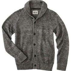 Might be Converse brand, but you can't beat a thick shawl-collar cardigan in winter