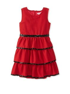 Mini Treasure Kids Girl's Madalyn Ra Ra Dress (Red)