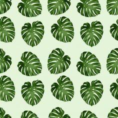 Leaf Pattern Seamless Background