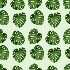 Leaf Pattern Seamless Background
